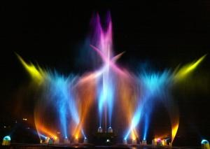 Wasser-Laser-Show Mariazeller Bergwelle