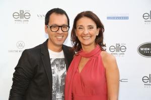 Star-Modeschöpfer Thang de Hoo mit Stellamodels-Chefin Roberta Manganelli